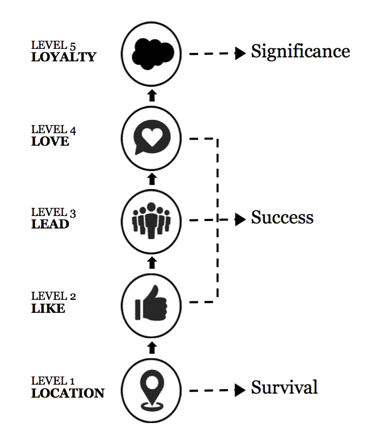 brand leadership 5 levels